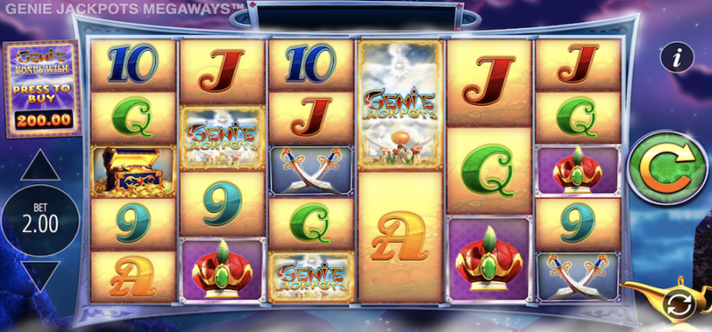 Genie Jackpots Megaways Main Game