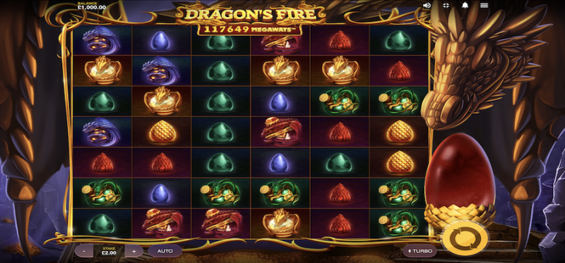 Dragon's Fire Megaways Main Game