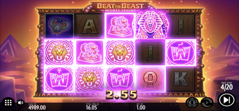 Beat the Beast: Mighty Sphinx Bonus Game