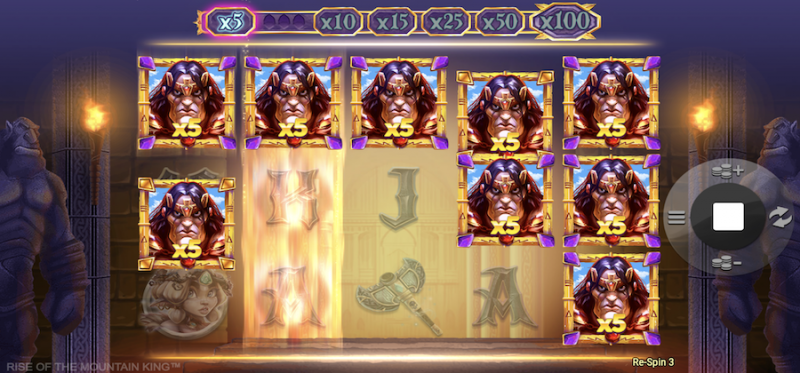 King's Respin during Free Spins