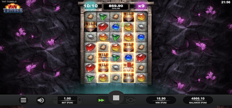 TNT Tumble - Multiplier Free Spins