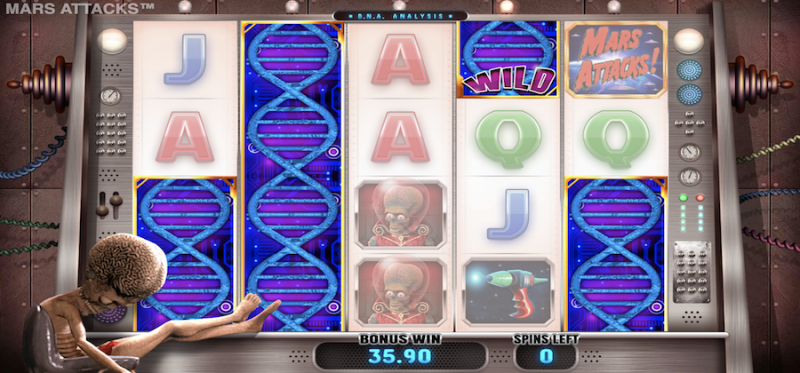 Mars Attacks! D.N.A Analysis Free Spins