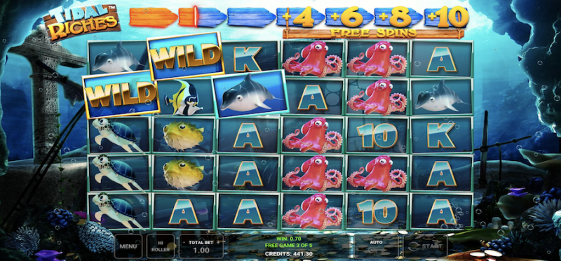 Tidal Riches Free Spins