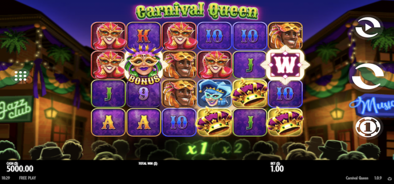 Carnival Queen Main Game